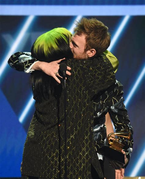 Billie Eilish and Finneas O'Connell at the 2020 Grammys ...