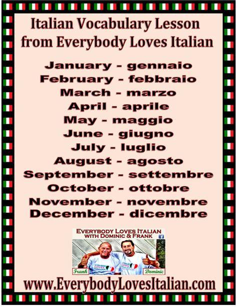 Italian Vocabulary Lesson - Months - EverybodyLovesItalian.com