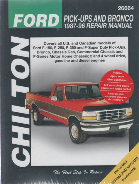 car service manuals pdf 1996 ford econoline e150 electronic valve timing ford ute pick ups and bronco 1987 96 chiltons sagin workshop car manuals repair books