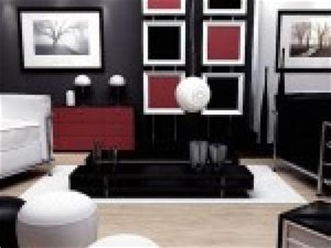 Photo Salon Gris Blanc Noir Rouge Par Deco