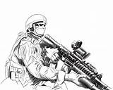 Coloring Soldier Army Pages Soldiers Drawing Soilder Drawn Printable Related Popular Google Coloringhome sketch template