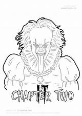 Chapter Draw Pennywise Coloring Drawing Drawings Clown Scary Adult Horror Drawitcute Colouring Fan Malvorlagen Tattoo Dancing Aspen Adults Coloriage Skizzen sketch template