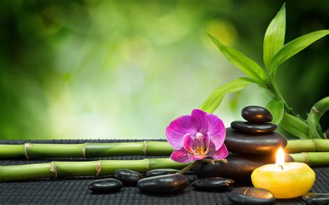 Background Message Stones And Spa Wallpapers Hd Desktop And
