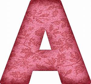 presentation alphabets pink flower fabric letter a With pink alphabet letters