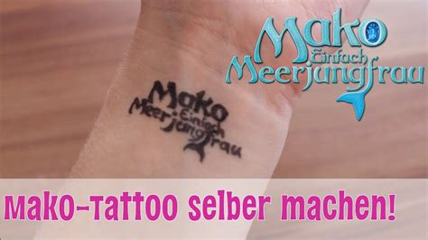 mako tattoo selber machen mako einfach meerjungfrau