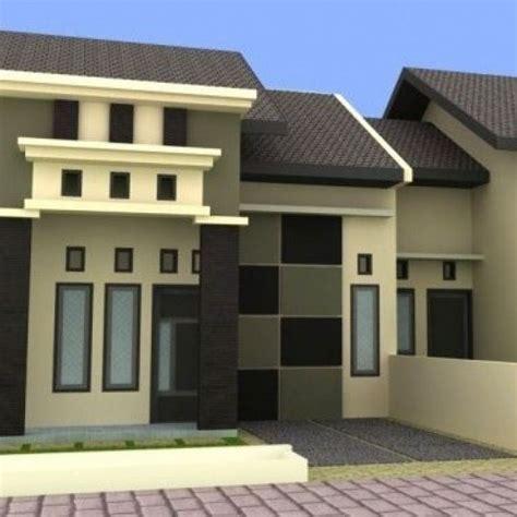 contoh warna cat rumah bagian depan modern rumah idaman