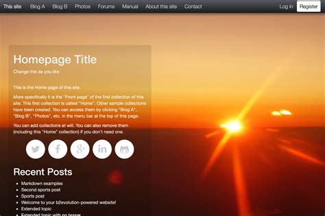 b2evolution blog/social CMS - A complete engine for your ...