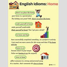 Common Idioms About The House And Home In English 33  English  Pinterest  English, Language