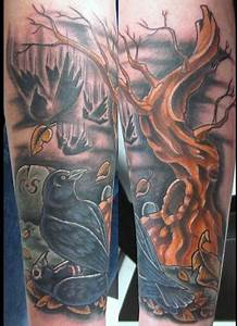 Looking for unique Tattoos? dead crows and tree