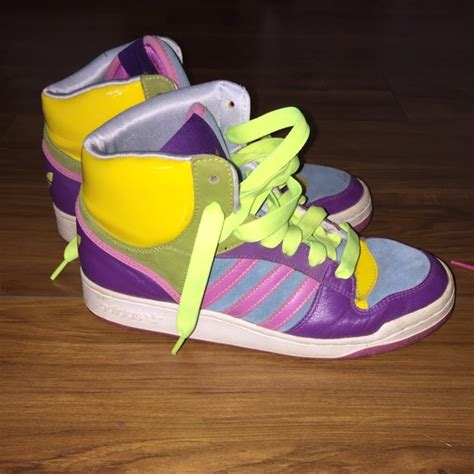 multi colored adidas adidas s adidas multi colored high tops from