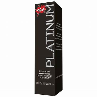 Personal Lubricant Platinum Wet Silicone Oz Fl