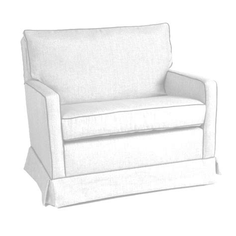Savvy Upholstered Glider And Ottoman By Castle by Custom Mesa Chair And A Half Glider By Castle