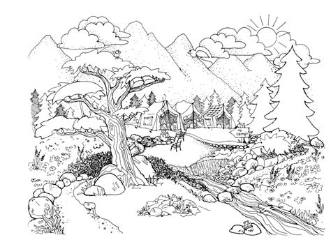 nature coloring pages  adults az coloring pages