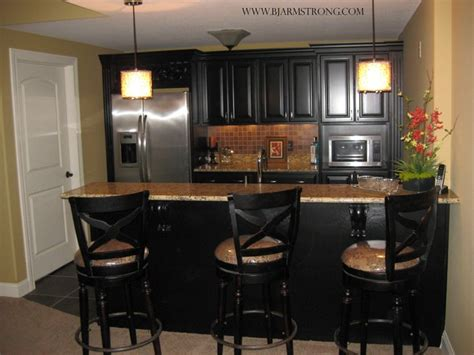 Bar Appliances by Basement Bar With Granite Countertops And Stainless