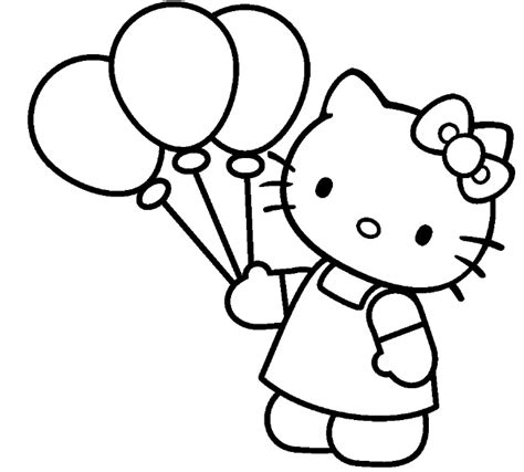 kitty  cartoons printable coloring pages