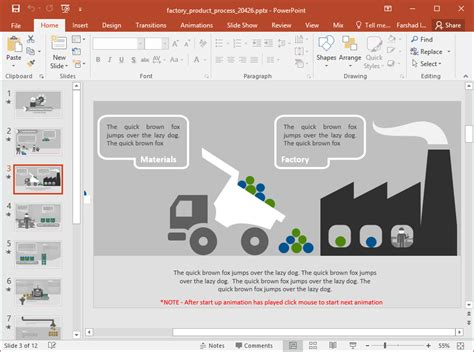 animated factory product process powerpoint template