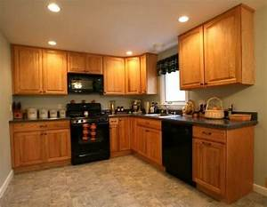 71 best kitchens golden oak ideas images on pinterest With kitchen colors with white cabinets with vinyl wall art custom