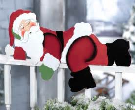 Funny Outdoor Christmas Decorations by Funny Santa Christmas Yard Decoration Christmasshack