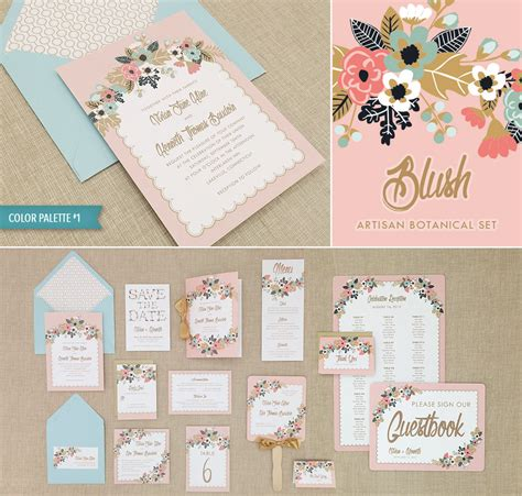 diy handkerchief inspired wedding invitation suite