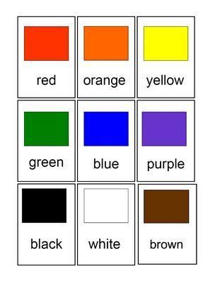 cards for color chips for preschool and primary 100 | 58958c2aa1b5f4a5074667acc89b4ec3