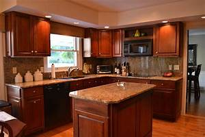 pantry kitchen cabinet dark kitchen cabinets with dark With kitchen colors with white cabinets with red cherry blossom wall art