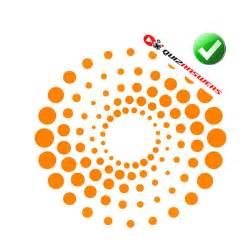 Logos with Orange Dots Circle