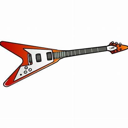 Guitar Cartoon Electric Clipart Flying Gibson Clip