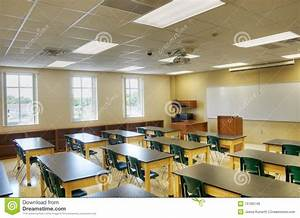 Hdr of interior of classroom stock image image 15766149 for Interior decorator school online