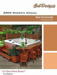 Cal Spas Hot Tub Spa Surrounds User Guide