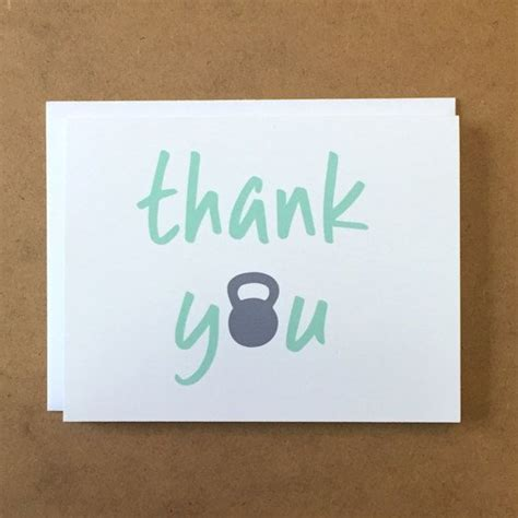 thank gym fitness cards card workouts trainer
