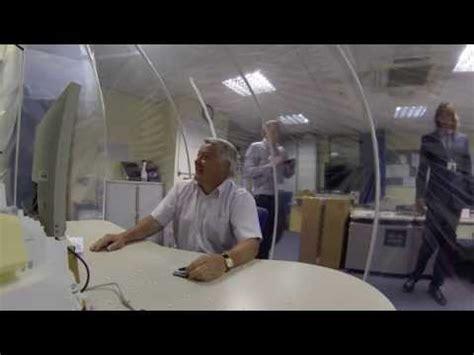 Your Q102 Snow Desk by Eddies Snow Globe Desk Best Office Prank