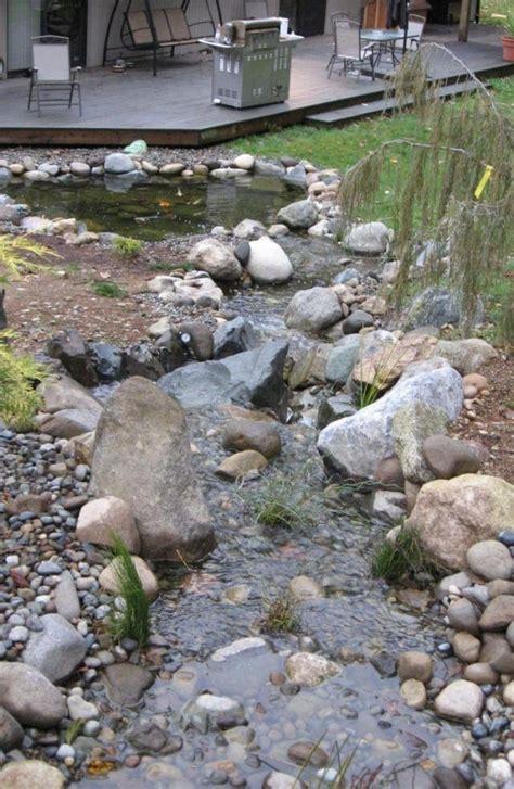 Teich Ideen Garten by Teich Mit Bachlauf Garten Anlegen Kies Boden Folie
