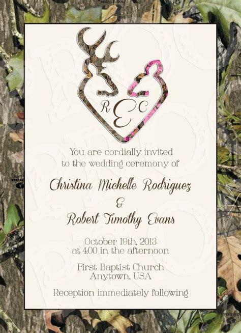 camo wedding invitation printable