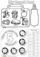 Sheet Colouring Healthy Bee Resources sketch template