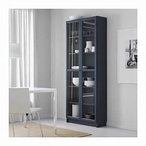 Bibliothèque Vitrée Ikea : billy biblioth que avec porte vitr e bleu fonc ikea bibliotheque pinterest vaisselier ~ Teatrodelosmanantiales.com Idées de Décoration