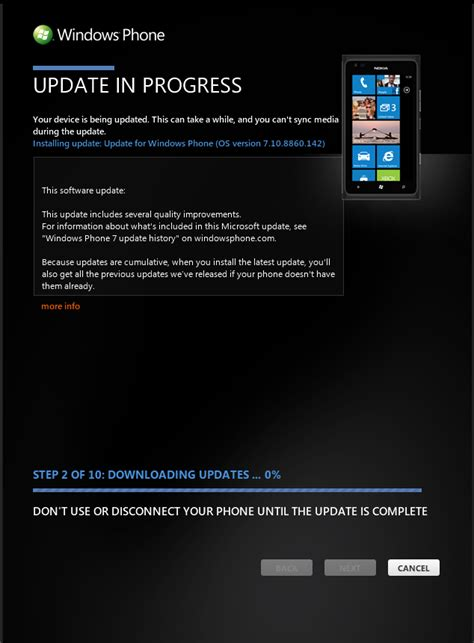 windows phone 7 8 update os version 7 10 8860 142 and os version 7 10 8862 144 the