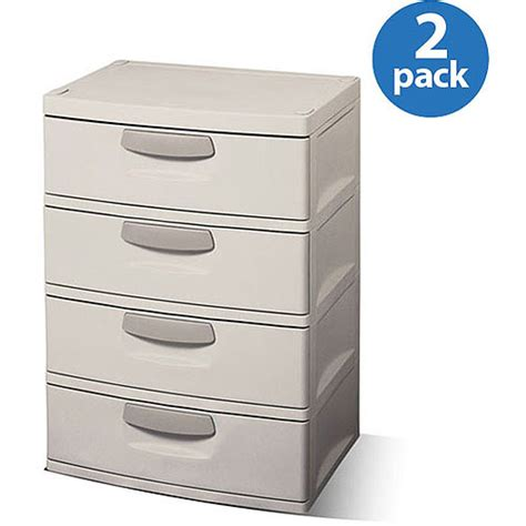 Sterilite 2 Shelf Storage Cabinet 2 Pack by Sterilite 4 Drawer Cabinet 2 Pack 119 00