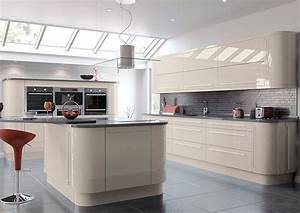 High gloss cashmere kitchen doors from gbp299 for Kitchen colors with white cabinets with stickers next day delivery