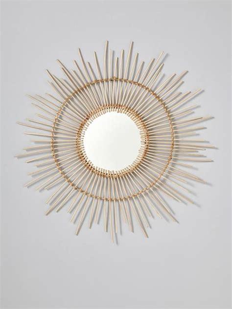 miroir en rotin miroir soleil en rotin maison vetement et d 233 co cyrillus