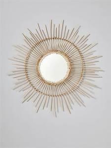 Miroir En Rotin : miroir soleil en rotin maison vetement et d co cyrillus ~ Nature-et-papiers.com Idées de Décoration