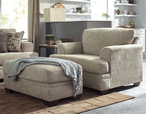 A Ottoman by Benchcraft Barrish Contemporary Chair And A Half Ottoman