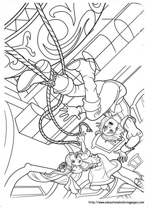 barbie   musketeers coloring pages educational fun