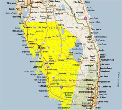 map  southwest florida cities area