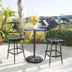 paris outdoor patio cast aluminum pub bar height bistro