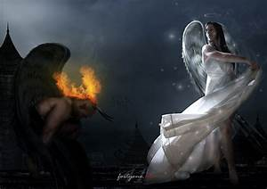 Hot Angel Love Devil | angels devil and angel desktop ...