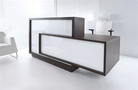 making an office desk white reception desk for modern office ideas with