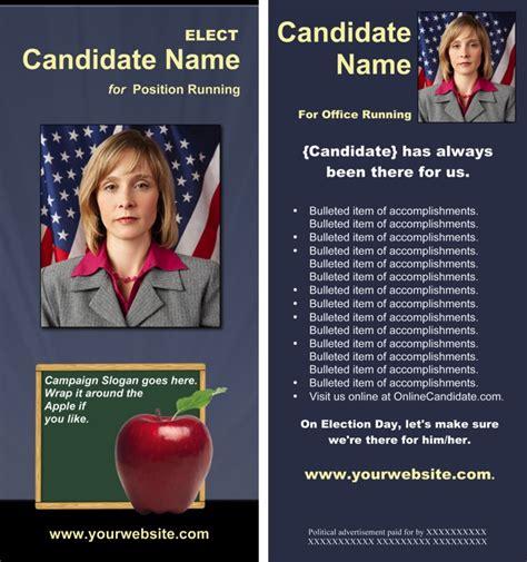 school board campaign print templates slate blue