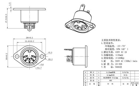 din socket fixed 5 pin inline din 5 19m socket audio av connector in connectors from
