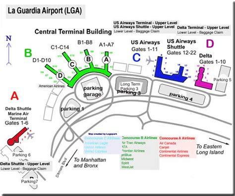 laguardia airport map  travel information