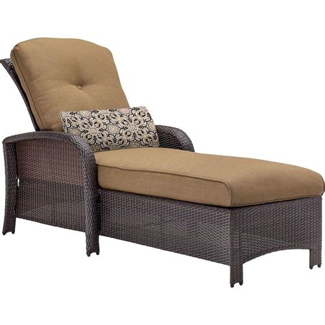 home depot chaise lounge hanover strathmere all weather wicker patio chaise lounge